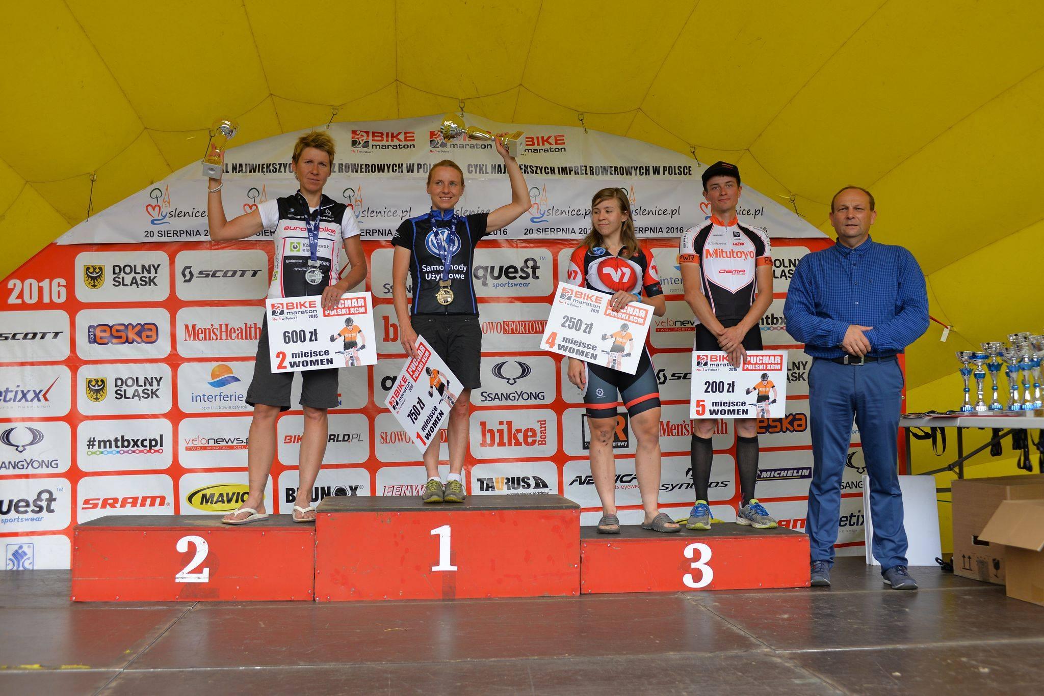 Michalina Ziółkowska i Michał Ficek (Volkswagen Samochody Użytkowe MTB Team) – Bike Maraton, Myślenice