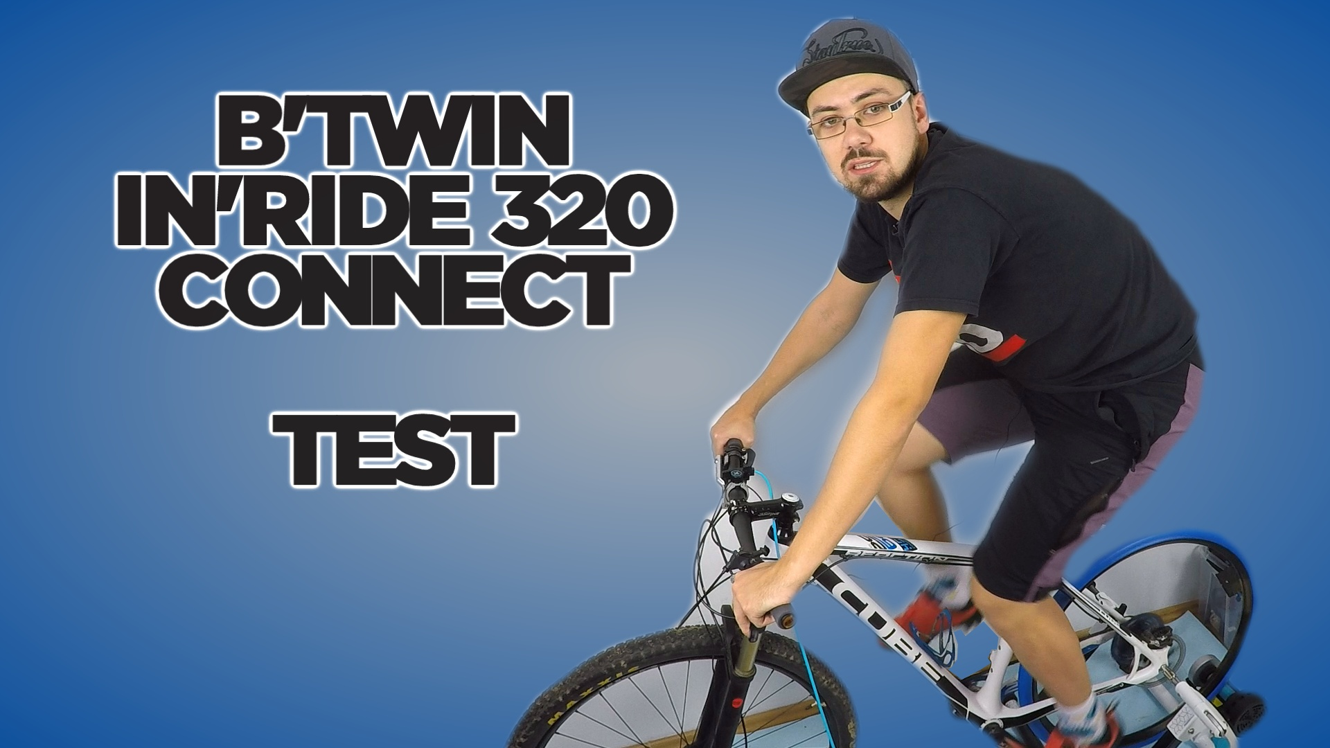 Trenażer rowerowy B'TWIN In'ride 320 connect