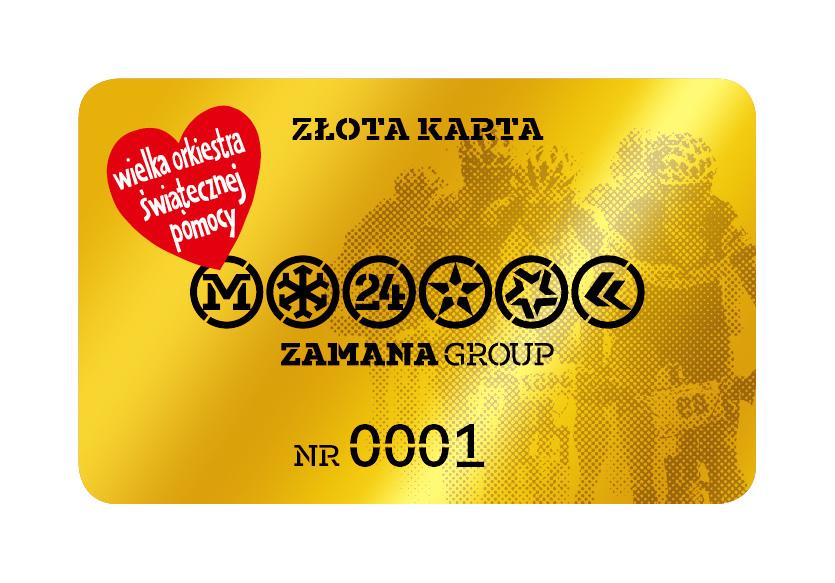 Wylicytuj złotą kartę Zamana Group z nr.1