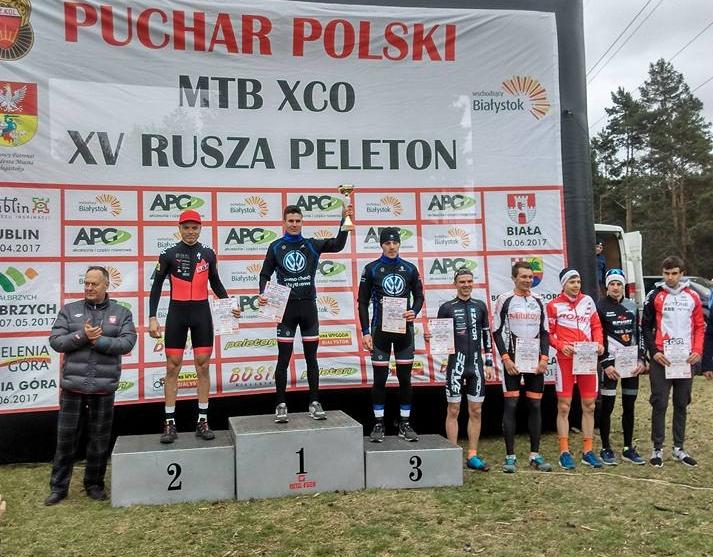 Zawodnicy VWSU MTB Team na podium w Miękini i Białymstoku