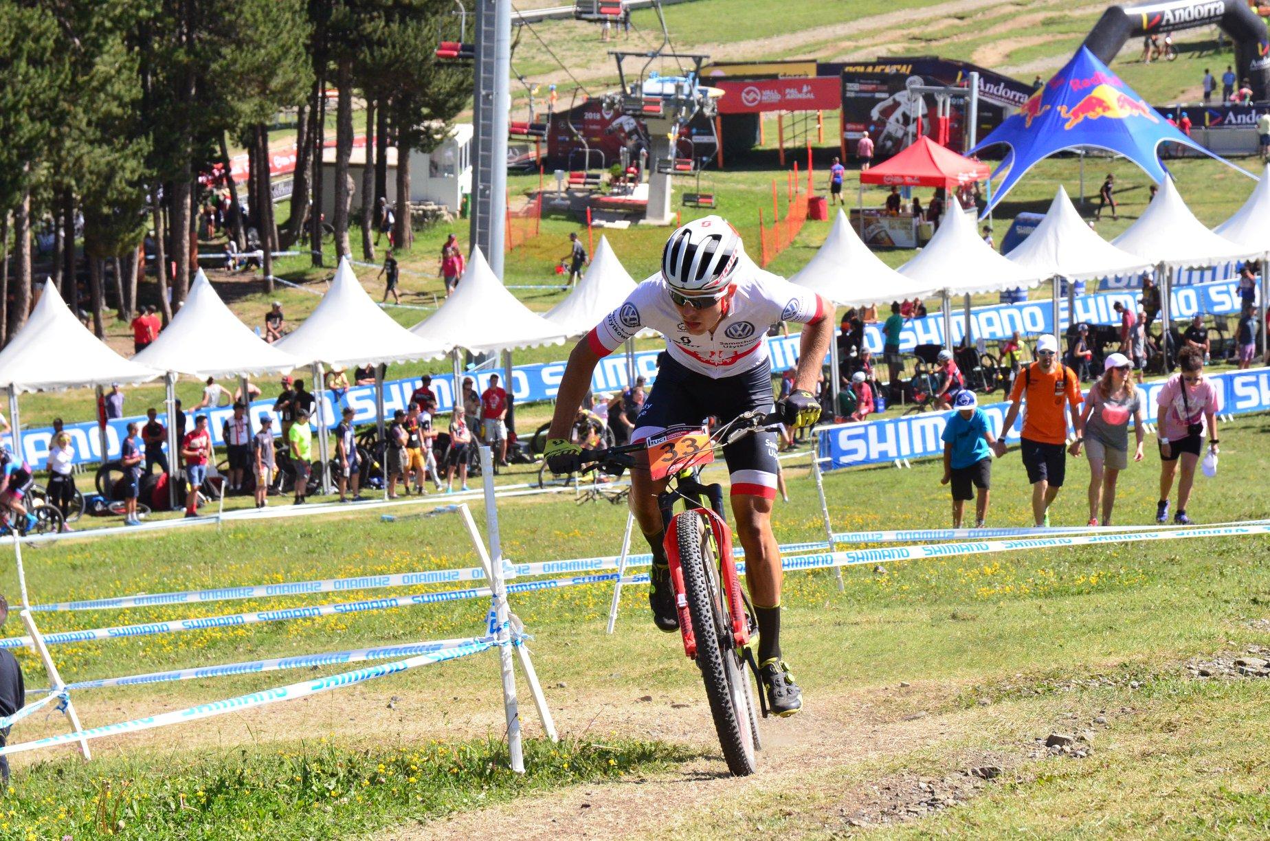 Jakub Zamroźniak z Volkswagen Samochody Użytkowe MTB Team na Pucharze Świata w Andorze