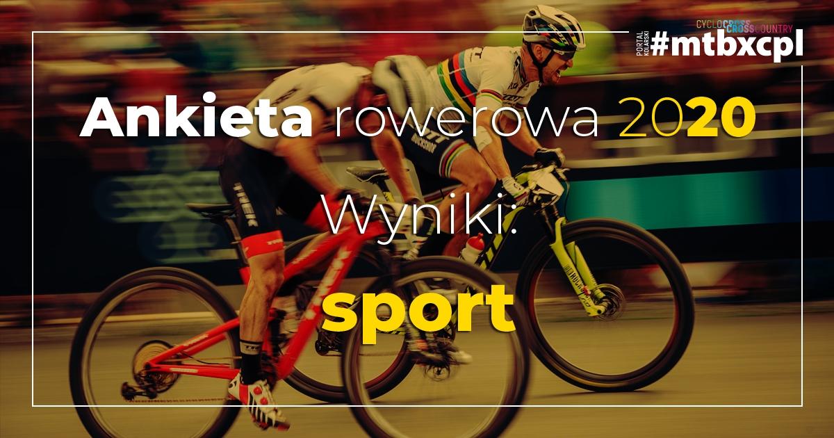 Ankieta rowerowa 2020 – wyniki w kategorii SPORT