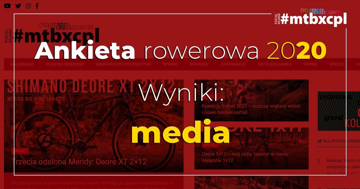 Ankieta rowerowa 2020 – PRASA / PORTALE / BLOGI / YT