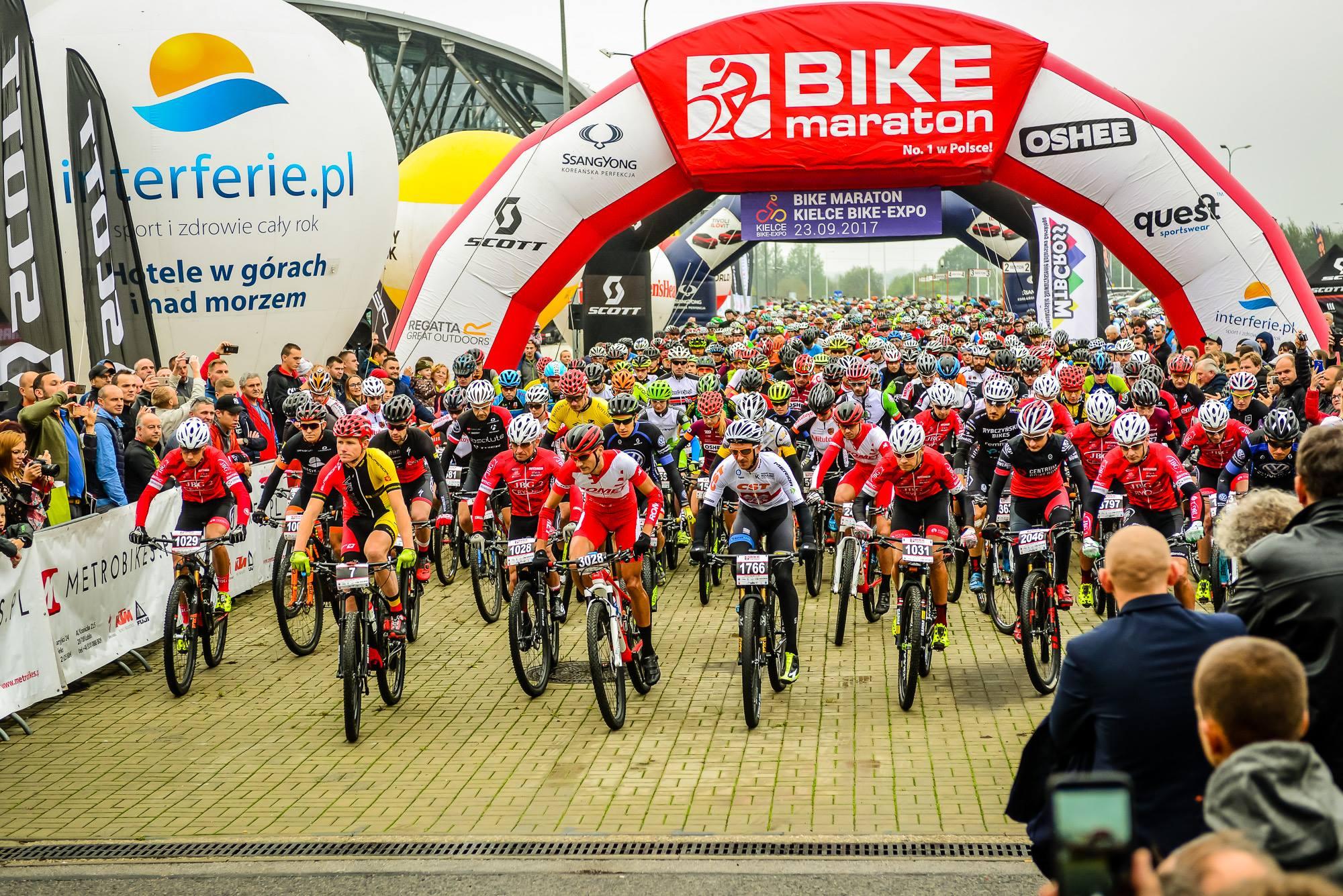 Bike Maraton Kielce Bike – Expo. Nie za płasko, nie za łatwo, nie za sucho…