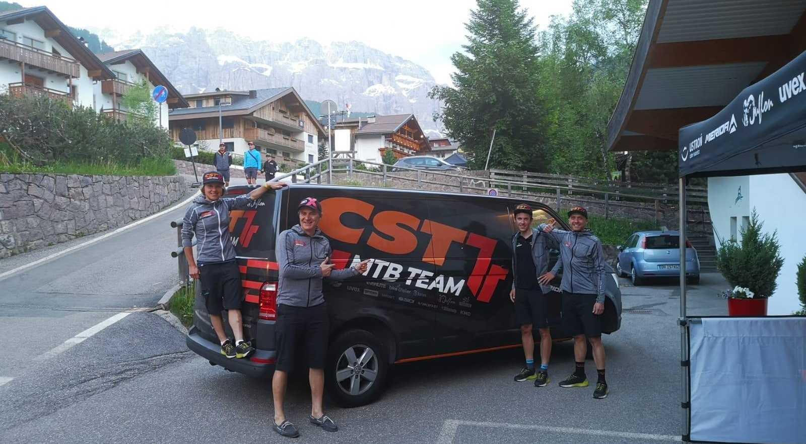 Zawodnicy CST 7R MTB Team na HERO Südtirol Dolomites 2019