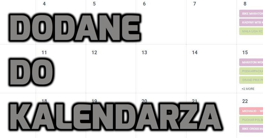 Dodane do kalendarza 6 / 03 / 2019