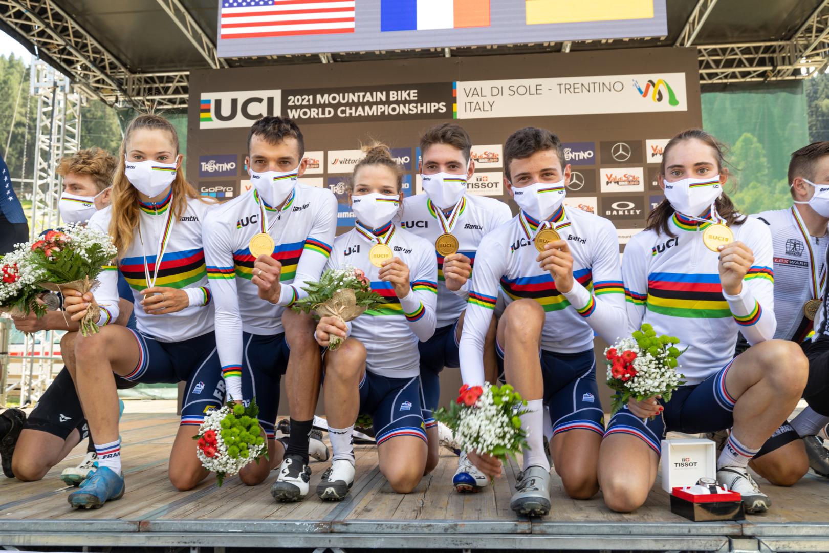 Francja po raz siódmy najlepszą drużyną na świecie! Polacy na 12. miejscu | MŚ MTB 2021, Val di Sole