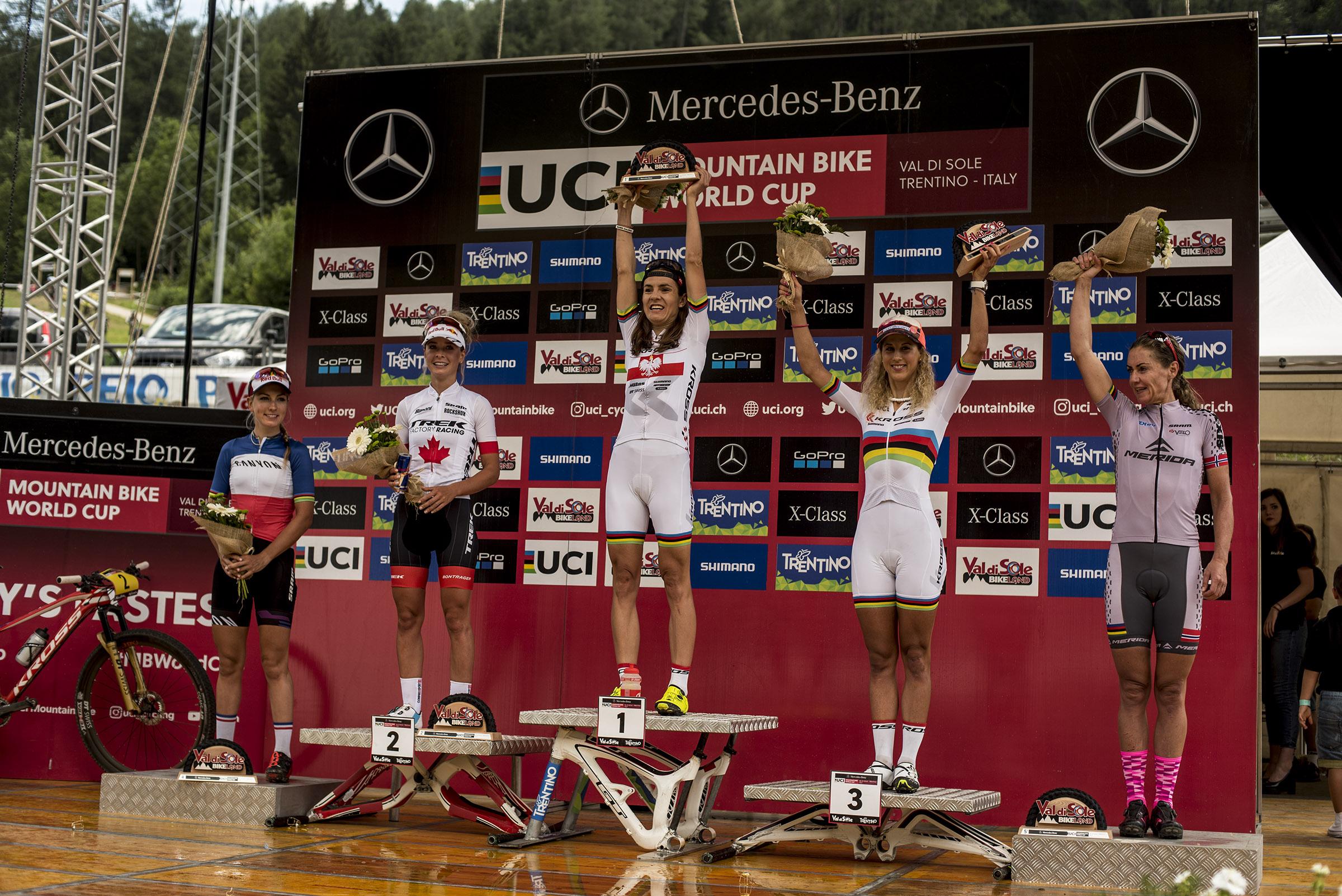 Maja Włoszczowska wygrywa Puchar Świata w Val di Sole!