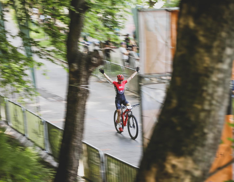 """Katarzyna Solus Miśkowicz (KSM Trek Racing): """"stresuję się każdym startem""""   Górale na Start UCI C1, Wałbrzych"""