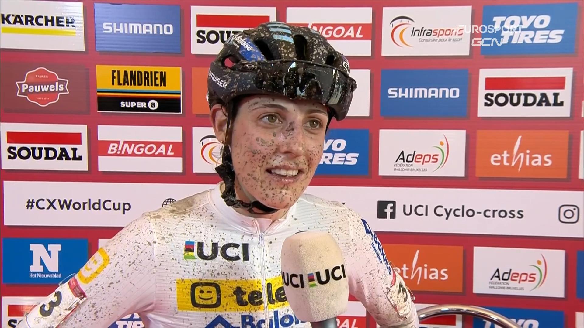 Lucinda Brand wygrywa w Namur, Honsinger i Betsema na podium
