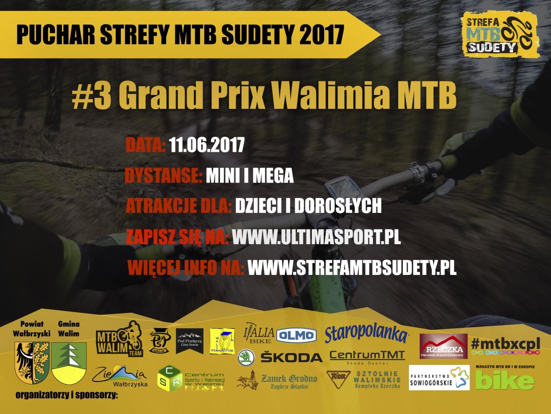 Trzecia runda Pucharu Strefy MTB Sudety 2017 już w ten weekend. Tym razem Walim